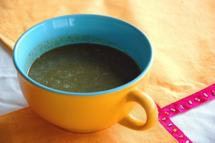 calalou soup in a bowl