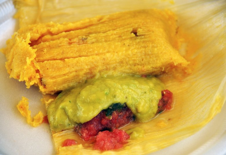 "Tamal de Puerco at ""Placita Los Girasoles"""