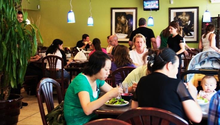 people eating at Lan Pan