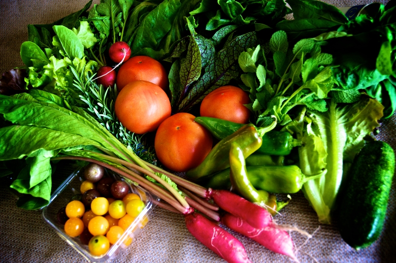 photo of assorted vegetables and herbs
