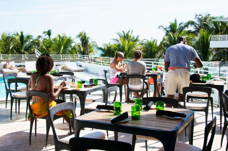 Eating outdoors at The Florida Cookery