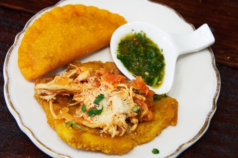 Patacon de Pollo and Empanada