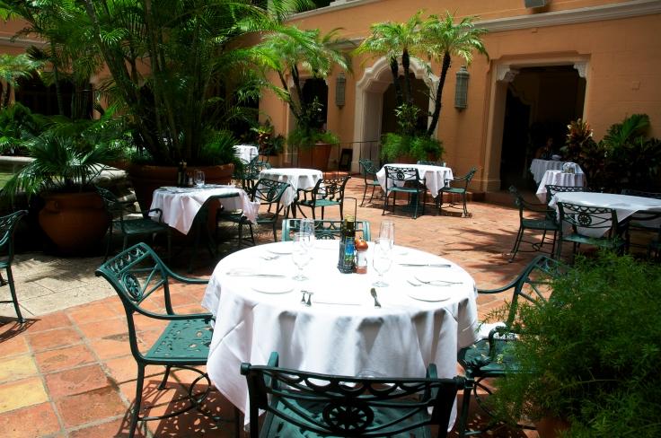 fontana outdoor seating