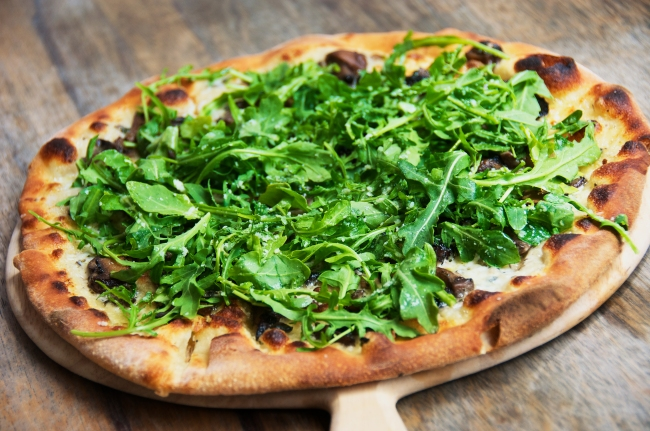 Pizza with Porcini & Arugula