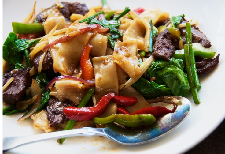 Flat Noodles with beef