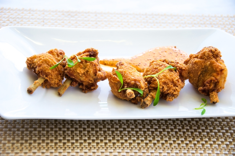 fried chicken lollipops
