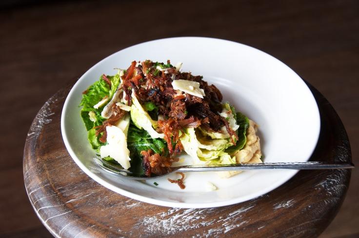 Pulled Pork Caesar Salad