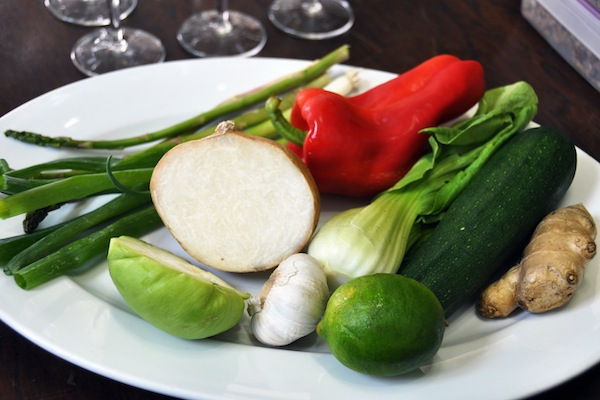 Fresh ingredients in result in wonderful finished dishes