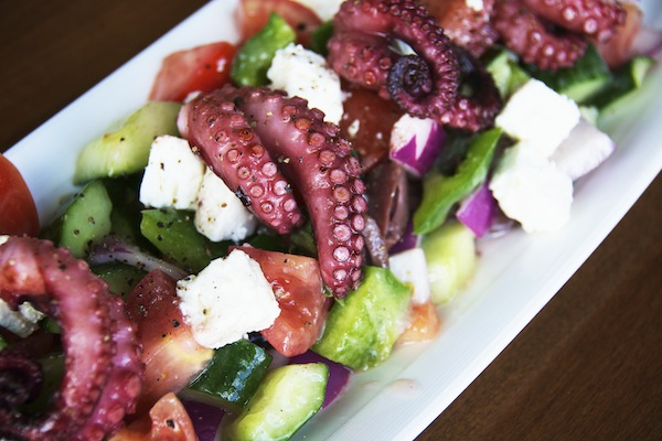 Baby Octopus Greek Salad
