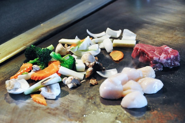 Ingredients for  Sirloin and Scallop Teppanyaki