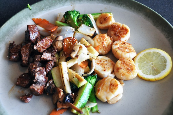 Sirloin and Scallop Teppanyaki