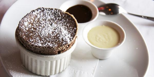 "Chocolate Soufflé, ""Chocolate Bon Bon"""