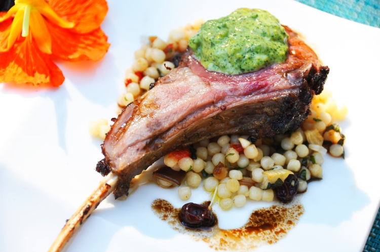 grilled rack of lamb