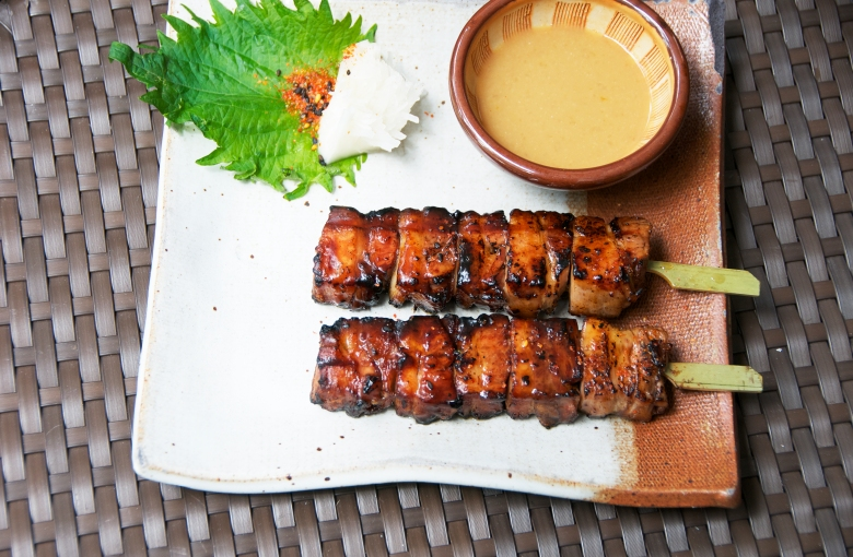 pork belly skewer