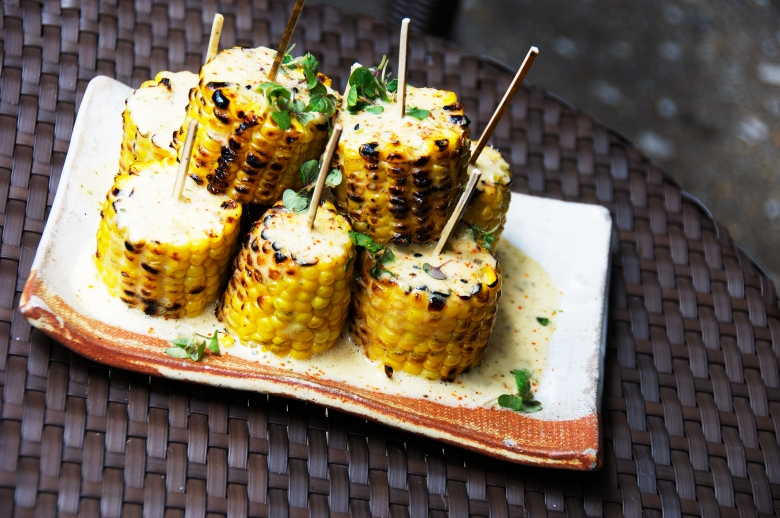 Yaki Toumoro Koshi: sweet corn with shiso butter