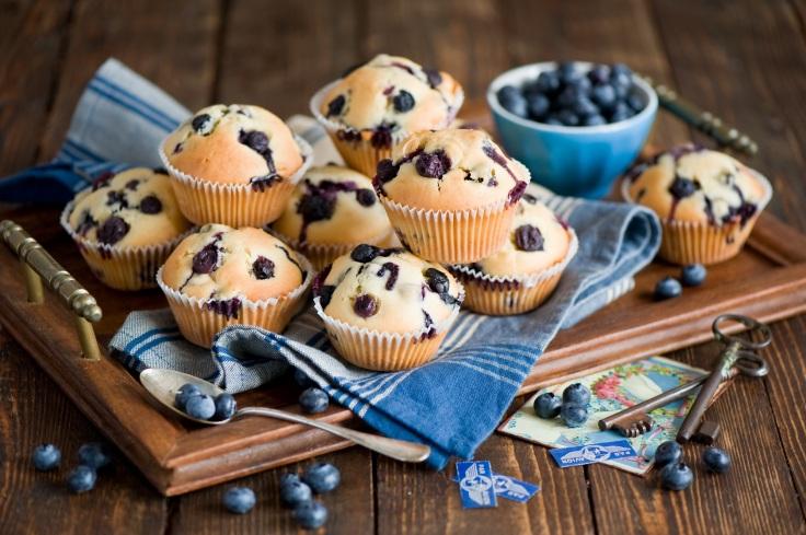blueberrie cakes by Anna Verdina