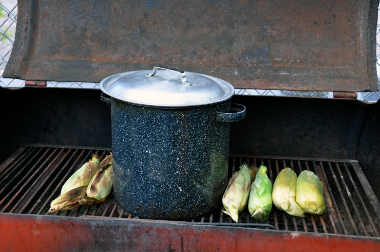 roasting sweet corn