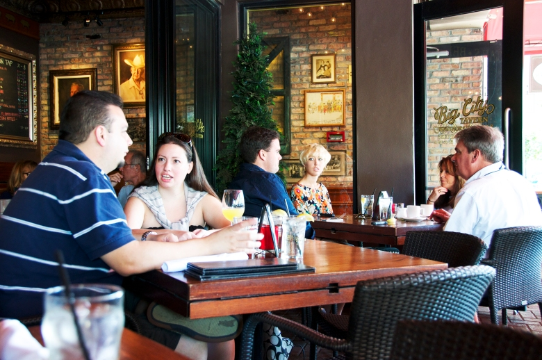 people dining at big city tavern