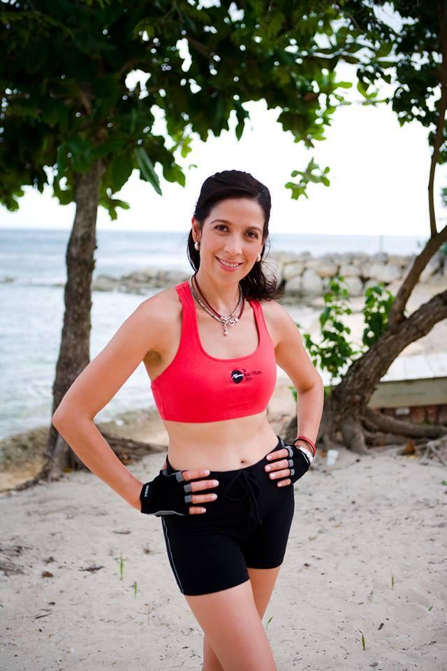 Chef Carmen on the beach