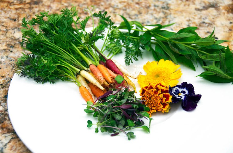 assorted veggies & flowers