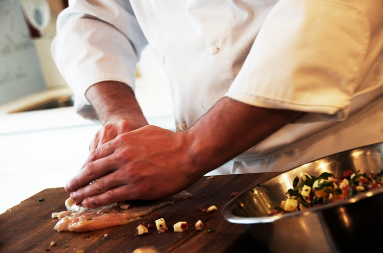 hands in the kitchen