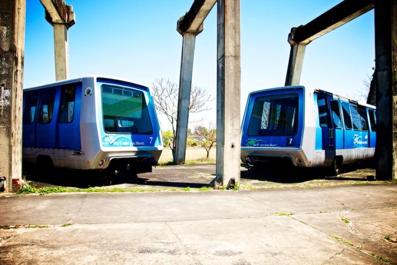 old metro rail trains