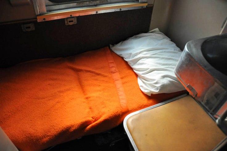 sleep on the train