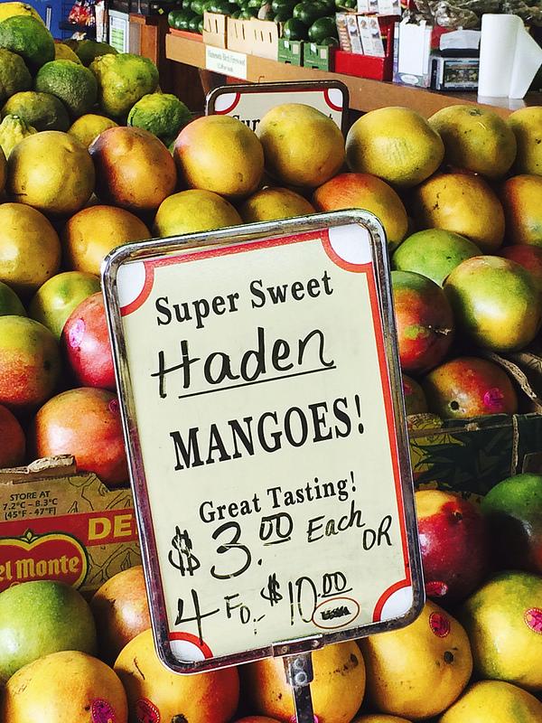 haden mangoes