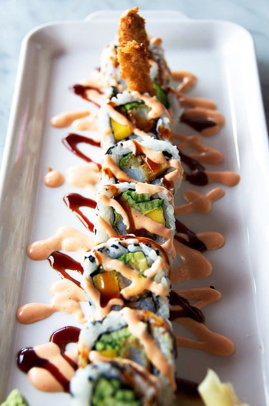 Dynamite Shrimp + Mango Roll