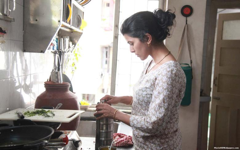 Ila preparing food for the dabba