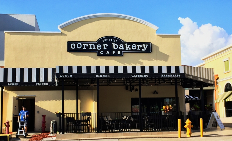 corner bakery - the falls, miami