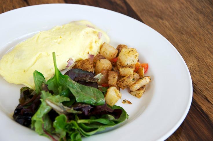 omelet & potatoes