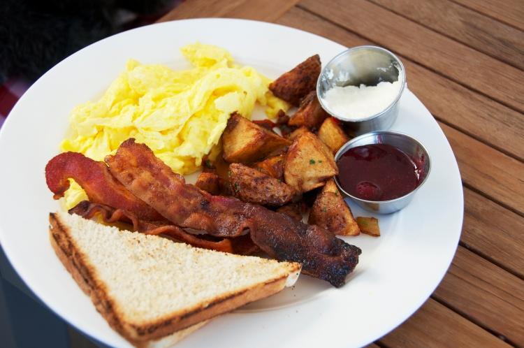 bacon, eggs & potatoes