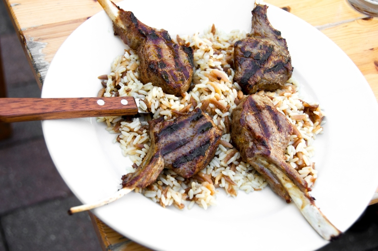 Grilled Lamb and Orzo Pilaf