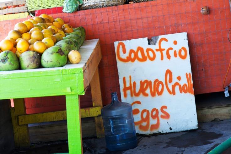 coco frio and huevos criollos