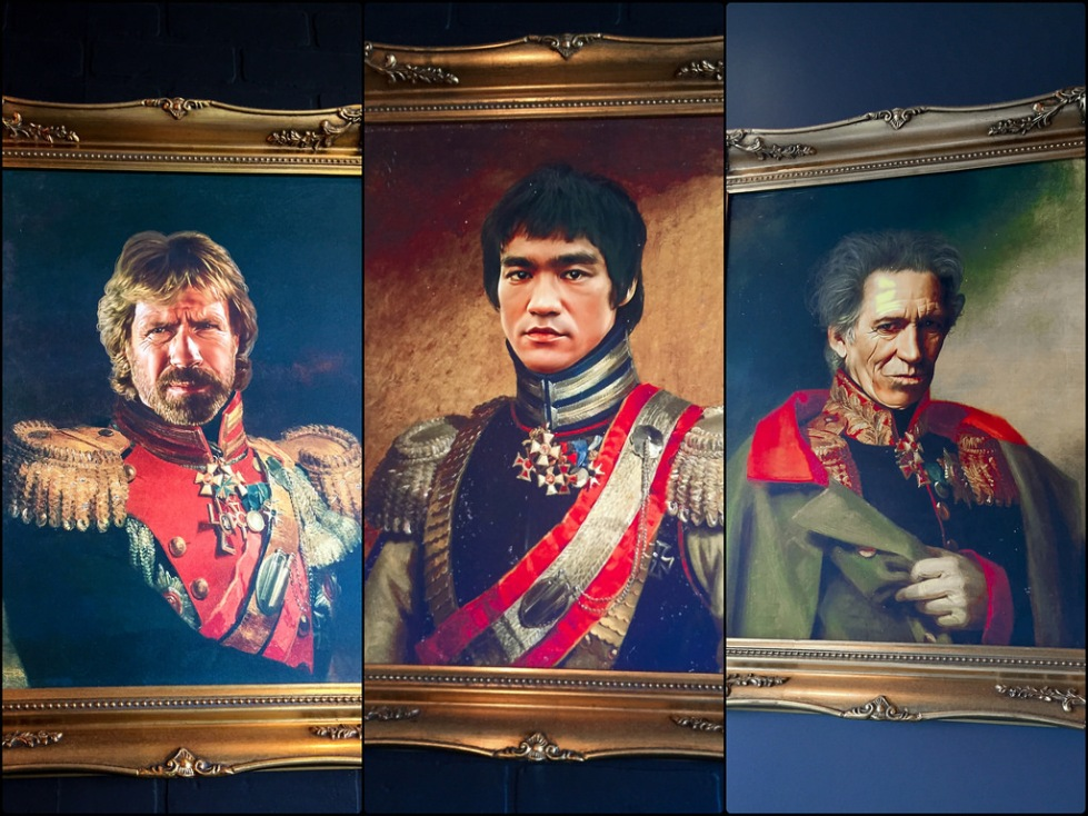 emperors on the wall