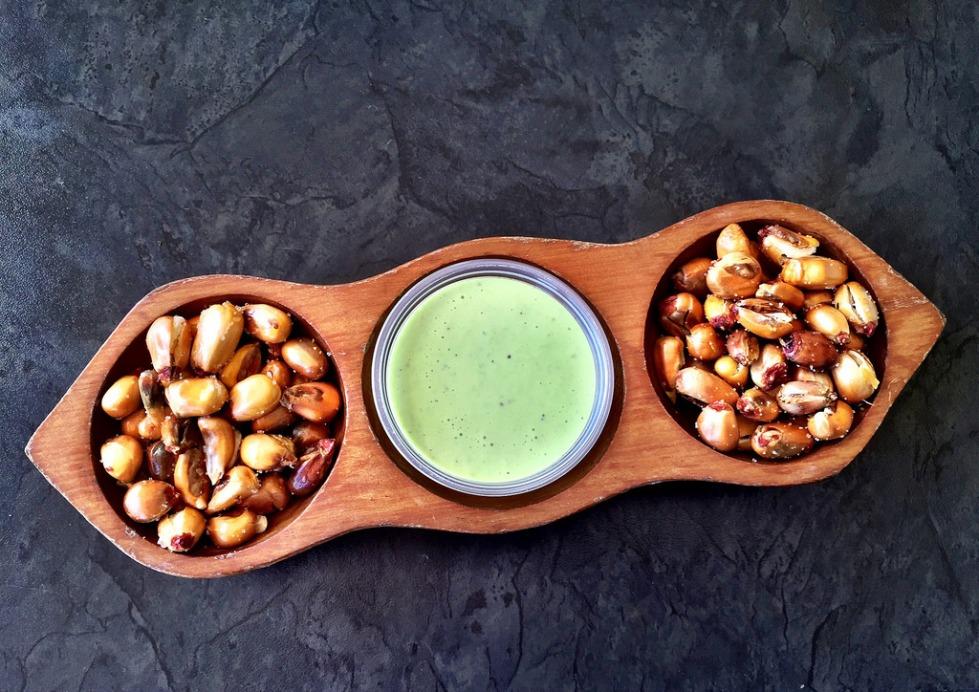 cancha con salsa verde