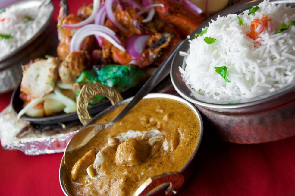 chicken korma & basmati rice