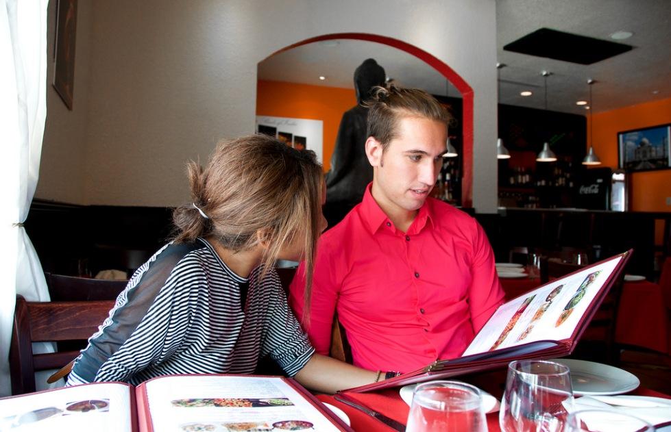 gazing at the menu