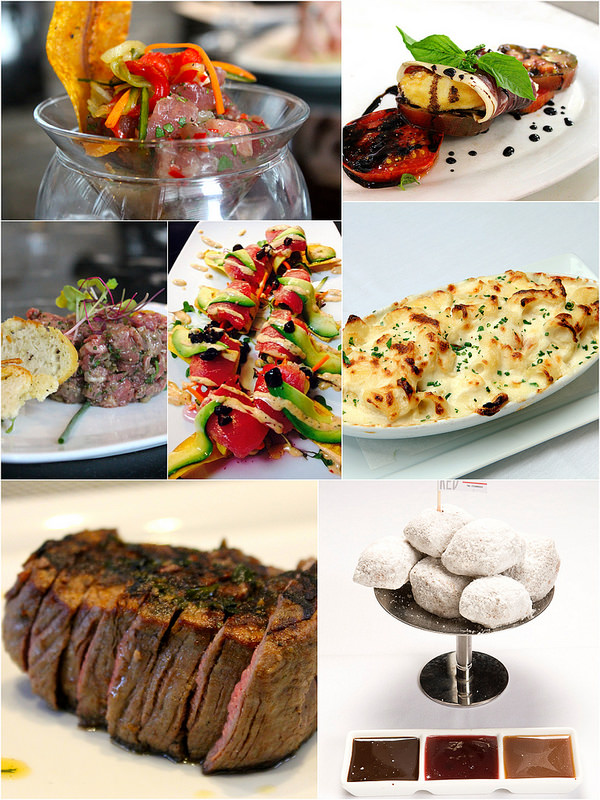 A variety of dishes served at Red, The Steakhouse