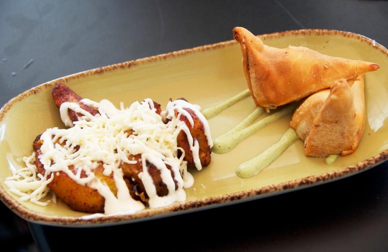 plantains & empanadas