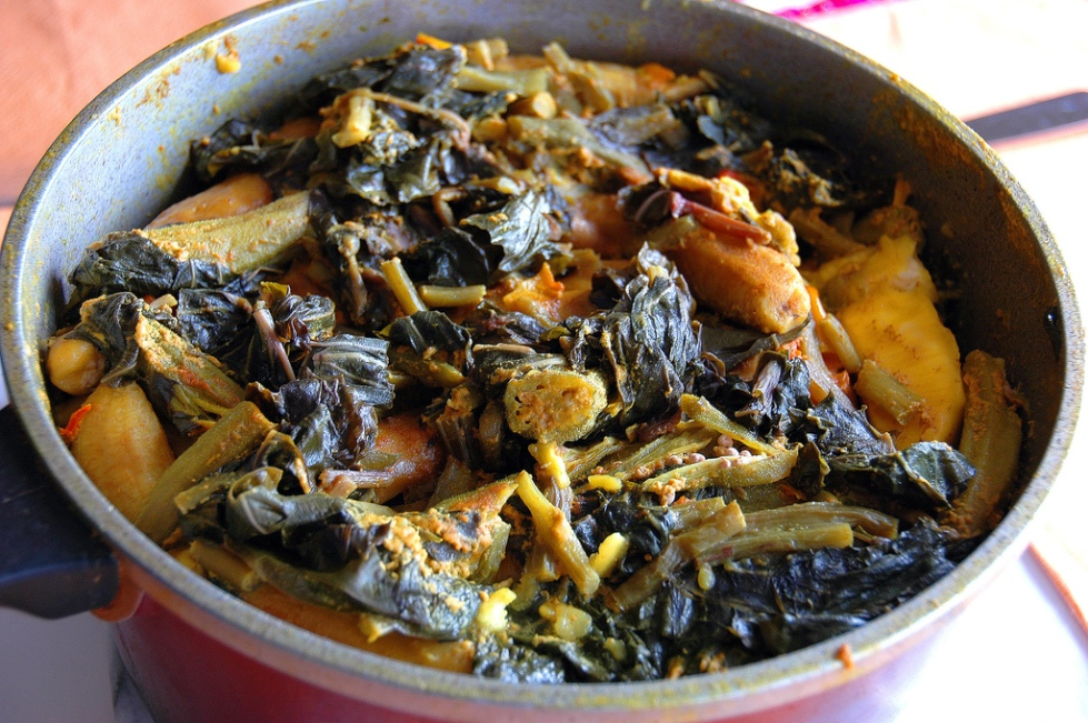 Oil Down, the national dish of Grenada