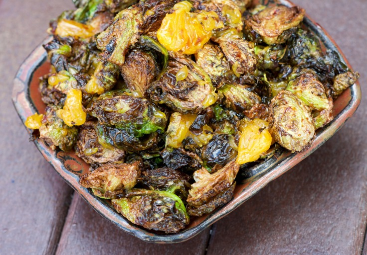 Brussels Sprouts with Mandarins and Sweet Soy.