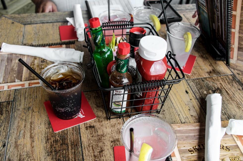 coke and condiments