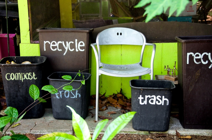 Recycling is an important part of the farm's philosophy