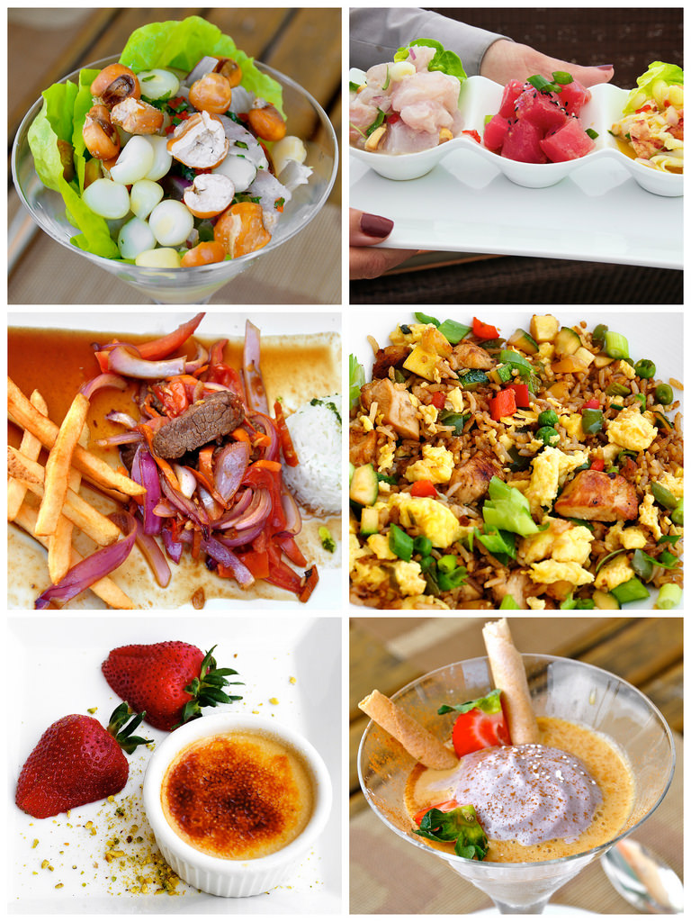 panorama food collage