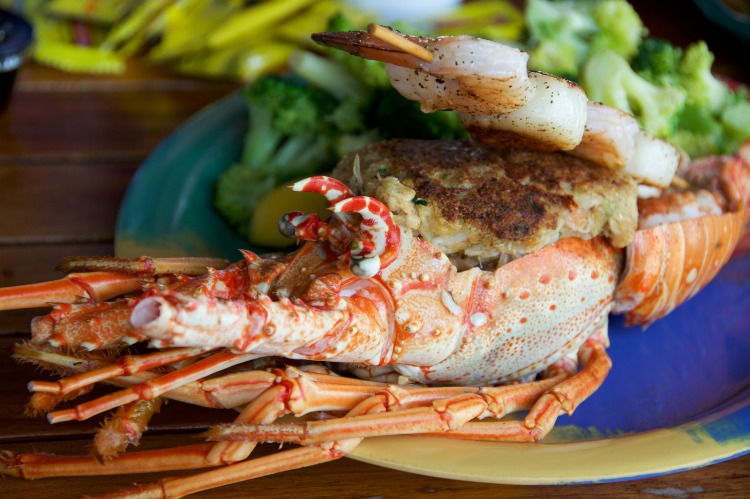 Stuffed Florida Lobster
